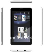 7 inch MTK6577 dual core double sim card tablet pc free shipping