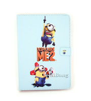 Brand Cartoon Design Despicable Me 2 Minions Flip Universal Stand Leather Cases Smart Cover For Apple Ipad Mini Protectors P303