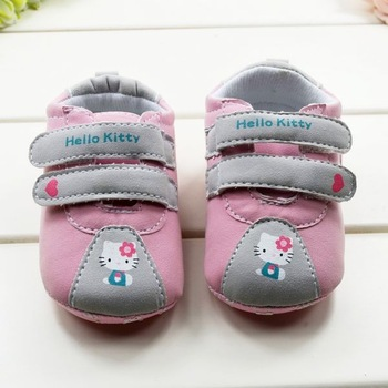 Top Quality New 2013 Hello Kitty Shoes 3pairs/batch,Hoop&Loop Sneakers, Anti-skidding toddler shoes for first walkers and infant
