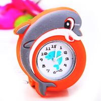 W100028#   New Arrival !  Hot sale animal cartoon slap watches,high quality jelly watch,mix colors, FreeShipping