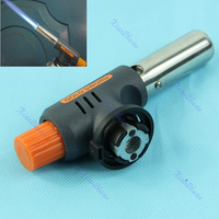 Free Shipping Flamethrower Gas Torch Butane Burner Auto Ignition Camping Welding BBQ Outdoor