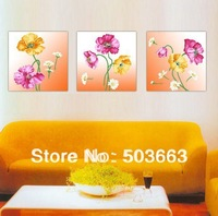 Classic 3ps 30cm Flowers Abstract Art Oil Painting Home Wall Deco canvas S-519A