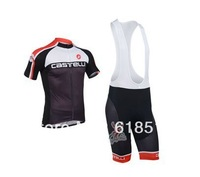 2013 castelli Team Black Pro Cycling clothes /Cycling Jersey ,Short-sleeved Bib Shorts Free shipping!974