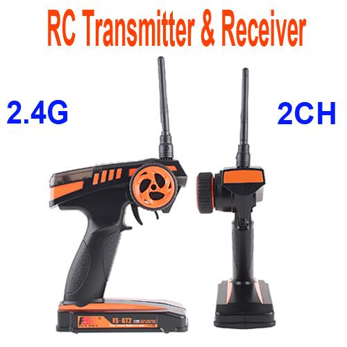 2.4G FS-GT2 2CH Radio Model RC Transmitter & Receiver Car Boat(China (Mainland))