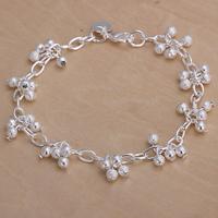 Hot!wholesale for women/men's 925 silver bracelet 925 silver fashion jewelry charm bracelet frosted grape Bracelet SB087