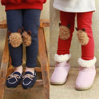 Children's Clothing Female Child Autumn And Winter 2014 100% Cotton Pattern Female Child Legging Kid Pants Free Shipping
