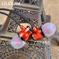 ULDUM latest item gold plated 3.5mm plug stereo deep bass sound metal headphone earphone with mic in retail box for kids gift