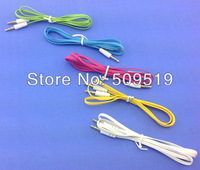 Wholesale 10pcs/lot 3FT 3.5mm Male M/M Stereo Plug Jack Audio Flat Extension Cable For iPhone 4 4s 5G  PC MP3