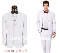 2013 Men's Tuxedo Wedding Suits White Wedding Party For Mens Groomsman Slim Fit Two Button Suits