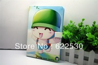 Free Shipping Fashion Cartoon Ultrathin/Slim Leather Case Cover with Smart Stand for iPad Mini