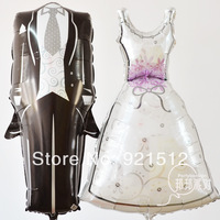 anagram aluminum   Balloon foil Wedding Dress the bride and groom Wedding valentine Balloon suit