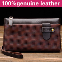 2013 new arrived at the man's wallet popular lanes cattle skin 100% genuine leather fashion man purse leather clutch bag D1036