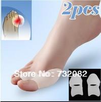 Best quality 2pcs/lot Gel Bunion Protector Toe Straightener Spreader Correctors Podiatrist Treatment E2515