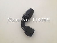 Black 90Degree Oil Cooler Fuel Line Hose End Fitting -8AN 8-AN Hose Fitting AN8