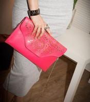 Retro Design Day Clutch bag Shoulder Cross-body Bags  Candy Color Hollow Handbag   For Women