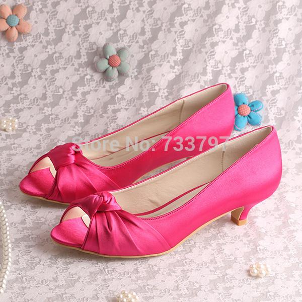 Low Heel Pink Shoes | Tsaa Heel