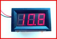 10pcs/lot Red LED Digital Volt Voltage Panel,electric Meter D C3.2 - 30V For car battery 9V 12V 24V