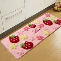 Strawberry mats 50*120cm slip-resistant Girl Mats Home Room Door Rugs and Mat For Living Room Carpet