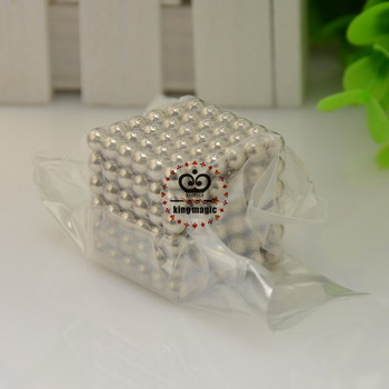 Free Shipping! Neo cube Size: 5mm 216pcs/set with vacuum packing/ Neocube, Buckyballs,Neocube,Magnetic Balls/color:nickel