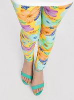 Hot 5pcs/lot free shipping flower girls' leggings, flowers cute autumn -summer children's legging, 2-6yrs.