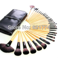 32pcs Professional Cosmetic Brushes Tool Makeup Brushe Set Kit with Black Bag Case Gift Wholesale Free Shipping