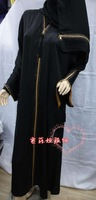 Promotion!! Wholesale/retail Hot sale Islamic zipper women's abaya Series /Jilbab/arabic cloth Free shipping