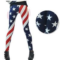 Spring and summer pants national flag milk silk legging plus size skinny pants