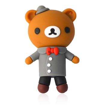 Creative Couples U Disk Easily Bear Teddy Bear Cartoon U Disk Personalized USB Flash Drives 2G/4G/8G/16G/32GB/64GB