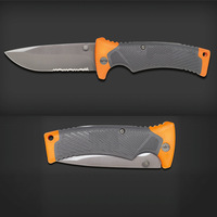 GB  bear   Folding Survival Saw Blade Knife with Sheath Knives