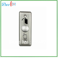 5pcs/lot+ Stainless steel exit button push button switch silver color 12V output format with NO/NC/COM