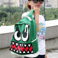 Big eyes hippo1 little demon of cartoon casual handbag multi-purpose double-shoulder backpack school bag