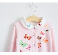 Baby girls' coat kids girls pearl jacket butterfly long sleeve cardigan outwear 1184646446 tmj
