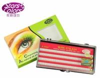 Starscolors A-1006 C curl 0.12 2 roots 8/10/12mm false eyelashes eyelash extension (1 pc)
