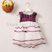 1 pcs girl's flowers dancing pom dress kids' clothing children wedding party dress princess girls' tutu dress elegant new hot
