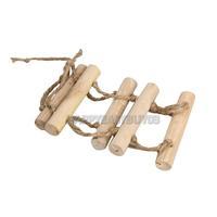 H3#R Small Parrot Bird Hamster Playground Parrot Wooden Ladder Bird Swing Bridge Toy Bridge Parrot Shelf Cage