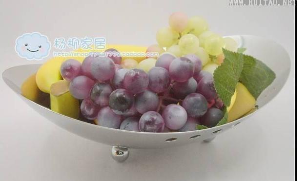 Navio em forma de ovo de aço inoxidável prato de frutas caneca up salada prato de frutas lanche bandeja de doces(China (Mainland))