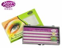 Starscolors A-1005 C curl 0.12 3 roots 8/10/12mm false eyelashes eyelash extension (1 pc)