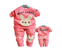 Retail New Arrival Baby Girl Long Sleeve T Shirt and Pants Set Toddler two Pieces Set Infant Garment 1set Free Shipping NYT-017