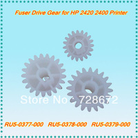 Free shipping retail 6 sets fuser drive gear RU5-037 0378 0379-000 printer spare parts Fuser gear for HP 2420 2400 printers