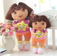 Super cute plush toys Dora the Explorer Cartoon star Plush doll 35cm 1pc  Popular gift