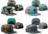 Hawaii style HATER SNAPBACK leopard snakeskin hip-hop hiphop zebra flat along the baseball hat Adjustable Cap,Hip Hop hat