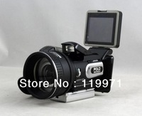 2013 New HD Digital DV Camcorder Video Camera HD9100 + 16x Telephoto Lens + Wide-angle Lens 2.5'' LCD 16MP,Free Shipping