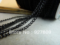 Free Delivery Electrophoresis black 2.5mm Chains Extend Chain 10meters/lot  Beads Jewelry Making Supplies
