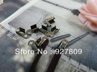 Free Delivery Diy accessories vintage handmade materials ancient bronze Buckle  6*4*3mm 600pcs/lot Jewelry Supplies