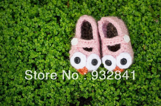 10%off!Pretty hot pink Lionhead baby crochet shoes,free shipping,Infant footwear,size 9cm10cm11cm,Toddler shoes.1pairs/2pcs.(China (Mainland))