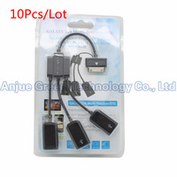 Wholesale 10Pcs/Lot 3 in 1 USB  Adapter multi-funtion OTG Cable for Samsung Galaxy Tab 2 P7500 P7510 P7300 P3110 Free Shipping