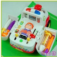 Baby intellectual development play toy electric toy car ambulance intellectual educational toys for children