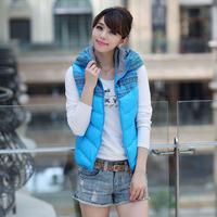 Free shipping 2013 autumn and winter women female lady girl sleeveless cotton Vest Jacket outwear coat wholesale
