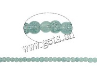 Free shipping!!!Crackle Glass Beads,2013 new men, Round, green, 4mm, Hole:Approx 1.5mm, Length:31 Inch, 220PCs/Strand