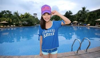 Hot I swimwear female small push up steel boxer swimwear sports bikini piece set jersey  Free Shipping